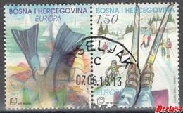 Bosnia Croatian Post -  EUROPA 2004 Used Pair - Bosnia And Herzegovina