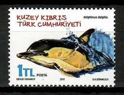 Turkish Cyprus 2017 Chipre Turco / Mammals Dolphins MNH Mamiferos Delfines / Cu14012  4-18 - Dolphins