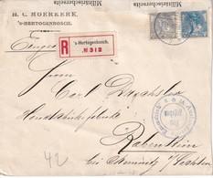 PAYS-BAS 1916 LETTRE RECOMMANDEE  CENSUREE DE HERTOGENBOSCH AVEC CACHET ARRIVEE RABENSTEIN - Period 1891-1948 (Wilhelmina)