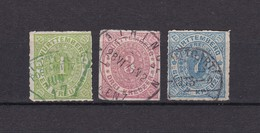 Wuerttemberg - 1869/73 - Michel Nr. 36, 38/39 - 27 Euro - Wuerttemberg