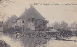 GIGNY SUR SAONE 71 INONDATIONS DE JANVIER 1910 MAISON EFFONDREE BELLE CARTE RARE !!! - Autres Communes