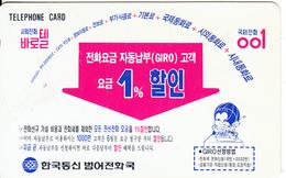 SOUTH KOREA - Korea Telecom Telecard(W2000), 04/96, Used - Korea, South
