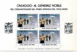 ERINNOFILIA / Omaggio Al Generale Nobile Nel 50° Del Primo Sorvolo Del Polo Nord - Vignetten (Erinnophilie)