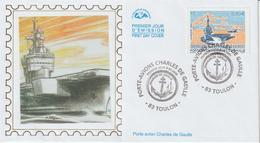 France FDC 2003 Porte Avion C De Gaulle 3557 - 2000-2009
