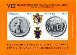 ERINNOFILIA / Mostra Mercato Filatelico Numismatico Foggia 1986 - Erinnofilia