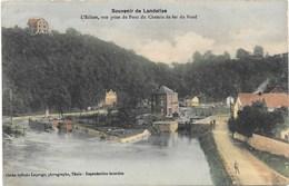 Souvenir De Landelies NA17: L'Ecluse Vue Prise Du Chemin De Fer Du Nord 1912 - Montigny-le-Tilleul
