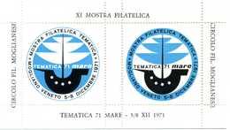 ERINNOFILIA / XI Mostra Filatelica Tematica 71 Mare - Vignetten (Erinnophilie)