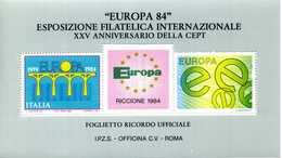 ERINNOFILIA / Europa 84 Esp. Filatelica Internazionale - Erinnofilia