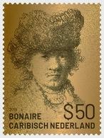 H01 Caribbean Netherlands 2019 Golden Stamp Of Rembrandt Of Bonaire - Collectibles MNH Postfrisch - Niederländische Antillen, Curaçao, Aruba