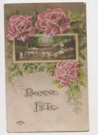 AI66 Greetings - Bonne Fete - Flowers, Sheep - Holidays & Celebrations