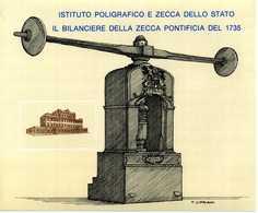ERINNOFILIA / Il Bilanciere Della Zecca Pontificia Del 1735 - Vignetten (Erinnophilie)