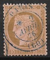 FRANCE : CERES N° 54 SUPERBE OBLITERATION PAR CACHET BLEU DE PARIS - COTE MAURY 110 € - 1871-1875 Ceres