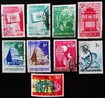 1956-1961  VIETNAM DU SUD YT 62, 68, 69, 72, 74, 75, 77, 78, 79, 85,  90, 182  ? Oblitérés 2 Scans - Viêt-Nam