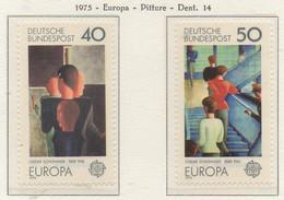 PIA - GERMANIA - 1975 : Europa - Quadri Di Oscar Schlemmer -  (Yv 689-90) - Modernos