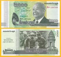 Cambodia 2000 Riels P-64 2013 Commemorative UNC Banknote - Cambodge
