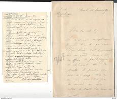 AUTOGRAPHE Général Borius Cdt Ecole Polytechnique 1890 Chef Maison Militaire Président Sadi-Carnot 1892 - Autogramme & Autographen