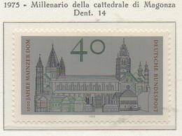 PI-GER - 1975 : Millenario Della Cattedrale Di Magonza   -  (Yv 694) - Cristianesimo