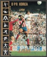 Corea Del Nord North Korea 1983 - Calcio Football Soccer Foglietto Non Dentellato Minisheet Imperforate MNH ** - Calcio