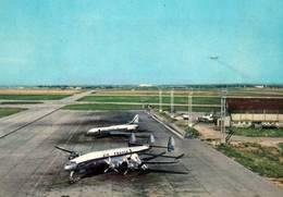 CPM - CONSTELLATION Et CARAVELLE De La Cie AIR-FRANCE ( Vue Prise Aéroport Du BOURGET ?) ... - Aérodromes