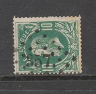 COB 30 Oblitération à Points 357 THIELT +5 - 1869-1883 Léopold II