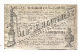 PUBLICITE ANCIENNE - ATELIER DE FERBLANTERIE LACLAUTRIERE - AIGURANDE - Publicités