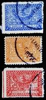 ARABIE SAOUDITE YT 114, 115A, 117 . Tughra Of King Abdul Aziz - Arabie Saoudite