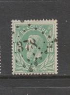 COB 30 Oblitération à Points 378 VILVORDE +3 - 1869-1883 Léopold II