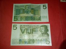 2 BILLET DE 5 VIJF AMSTERDAM 1966 TRES BON ETAT VOIR PHOTOS - [3] Emissioni Ministerie Van Oorlog