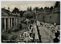 MONTECATINI  TERME (PT)  STABILIMENTO  TETTUCCIO   LA  VASCA  MONUMENTALE             (VIAGGIATA) - Italia