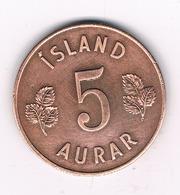 5 AURAR 1966 IJSLAND /5228/ - Islande