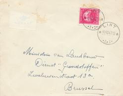 396/29 - Enveloppe TP 749 De Gerlache Cachet RELAIS à Etoiles LINT 1947 Vers BXL - Poststempels/ Marcofilie