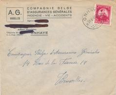 398/29 - Enveloppe TP 749 De Gerlache Cachet RELAIS à Etoiles ONHAYE 1948 Vers BXL - Poststempels/ Marcofilie
