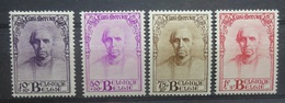 BELGIE  1932     Nr. 342 - 345   Licht Spoor Van Scharnier *      CW  15,00 - 1932 Ceres Und Mercure