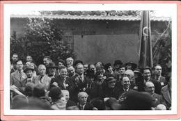 Carte Photo Cimetière Père Lachaise Mur Des Fédérés Manifestation 24 Mai 1936 Blum, Thorez, Mouzet, Moch, Doriot,... - France