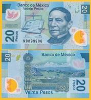 Mexico 20 Pesos P-122o 2016 (Serie AC) UNC Polymer Banknote - México