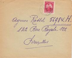 400/29 - Enveloppe TP 749 De Gerlache Cachet RELAIS à Etoiles GRANDMETZ 1947 Vers BXL - Poststempels/ Marcofilie