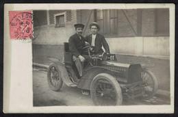 Cpa Carte Photo Automobile Voiture Bugatti De Dietrich 10 HP 1903 Maisons Alfort BT116 - Passenger Cars