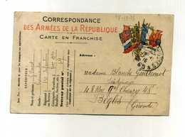 - FRANCE . 1914/18 . CARTE EN FRANCHISE DE 1915 . SP 69 . - 1914-18