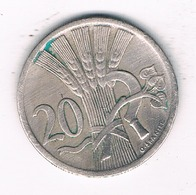 20 HALLER  1927  TSJECHOSLOWAKIJE /5237/ - Tchécoslovaquie