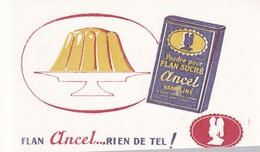 BUVARD /FLAN ANCEL / RIEN DE TEL - Alimentaire