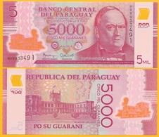 Paraguay5000 Guaranies P-234b 2016 UNC Polymer Banknote - Paraguay