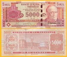 Paraguay5000 Guaranies P-223c 2010 UNC Banknote - Paraguay