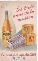 BUVARD / HUILE DULCINE - VEGETALINE - LA TOUR  / SPECIALITES R.T.R. - LES TROIS AMIS DE LA MAISON - Levensmiddelen
