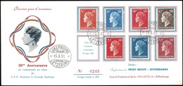 1951 Grande Duchesse 30e Anniversaire De L'avènement Au Trône, Michel:442,-443,446,450,454-456 - FDC