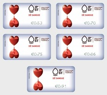 Portugal 2019 - ATM Give Blood - Give Blood Time Label Set - Ungebraucht