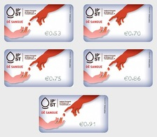 Portugal 2019 - ATM Give Blood - Give Blood Solidarity Label Set Mnh - Ungebraucht