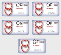 Portugal 2019 - ATM Give Blood - Give Blood Relations Label Set Mnh - Ungebraucht