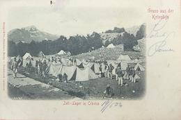 Krivošije, Crkvice Montenegro, Zelt- Lager, Army - Montenegro