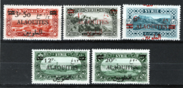 Alaouites 1926 Y.T.35/36,38/40 */MH VF/F - Alaouites (1923-1930)