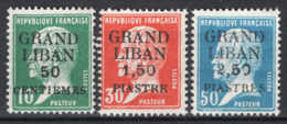 Gran Libano 1924 Y.T.15/17 */MH VF/F - Great Lebanon (1924-1945)